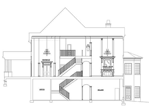 Cross Section by DFD House Plans
