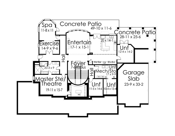 Basement Floor Plan by DFD House Plans