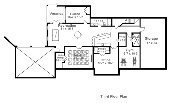 Colonial House Plan with 4 Bedrooms and 4.5 Baths - Plan 1836 on house attic, house rooftop, house phone, house electricity, house bathroom, house dining room, house sidewalk, house san francisco, house cellar, house exterior, house lift, house fireplace, house deck, house office, house garage, house construction site, house basement, house roof, house bedroom, house ground,