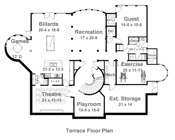 Terrace by DFD House Plans