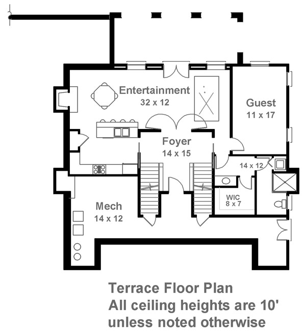 Terrace Floor Plan by DFD House Plans