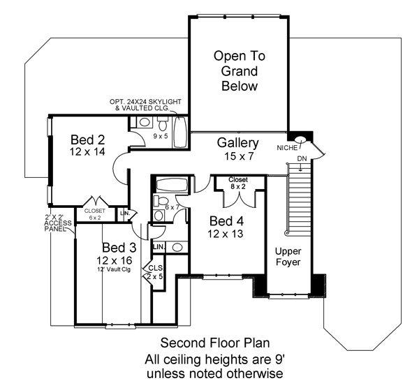Cottage House Plan With 4 Bedrooms And 3 5 Baths Plan 6480