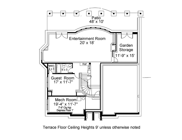 Terrace Floor Plan Image Of Villa Royale House