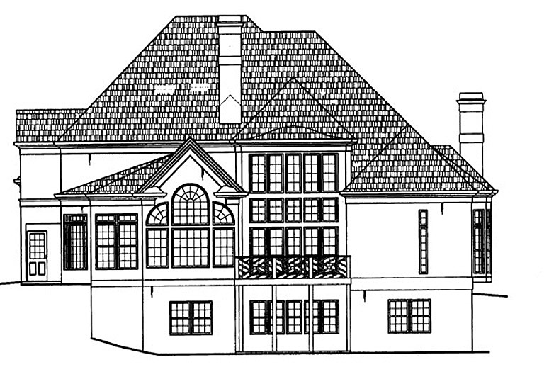 Rear Elevation image of Westover House Plan