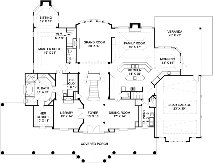 Practical Family House Plans Part - 17: First Floor Plan