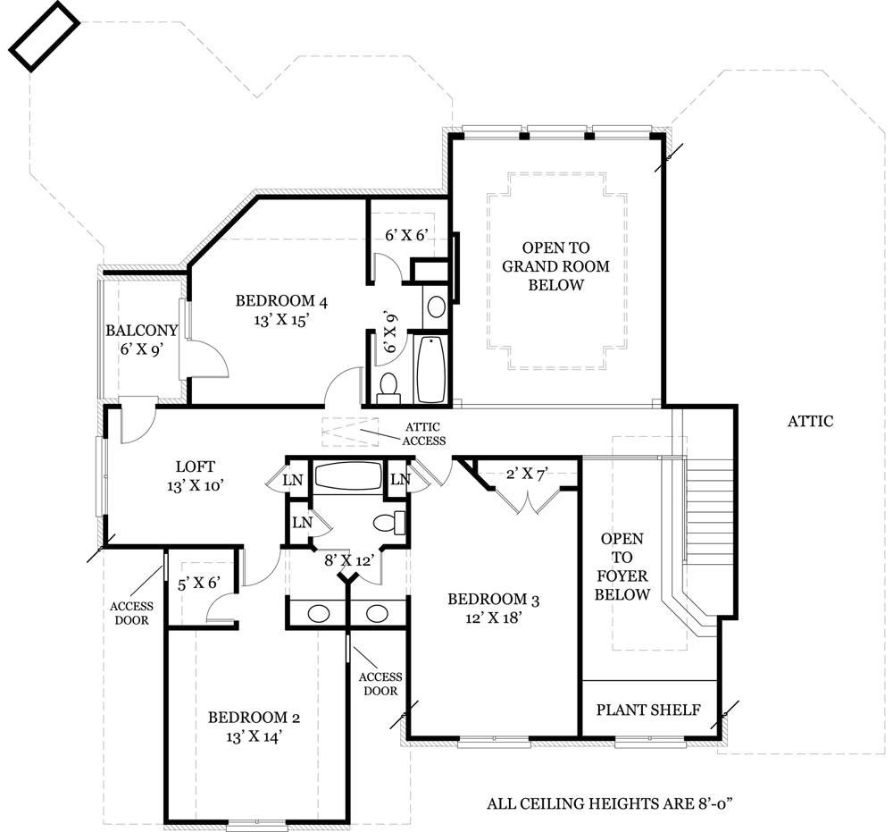 Country house plan with 4 bedrooms and 3 5 baths plan 7930 for Dfd house plans 1897