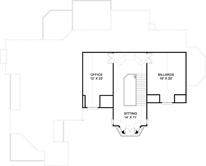 3rd Floor Plan by DFD House Plans