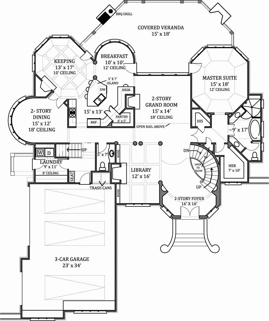 1st floor plan - Beautiful House Plans