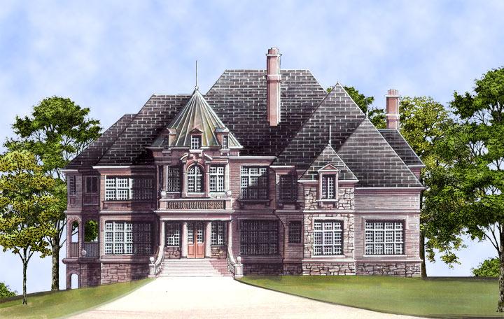 House Kildare Castle House Plan Green Builder House Plans