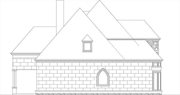 Left Elevaton (Slab) by DFD House Plans