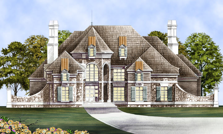 Colonial house plan with 4 bedrooms and 4 5 baths plan 1837 for Mercy mount