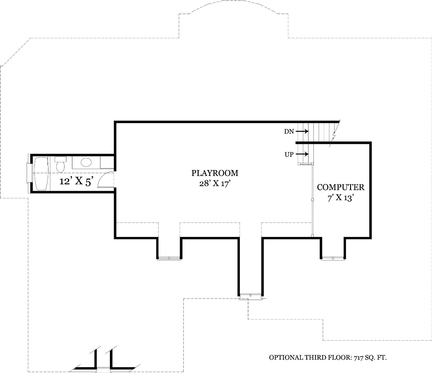 Optional Third Floor by DFD House Plans