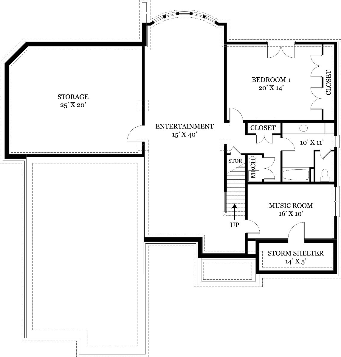 Contemporary house plan with 3 bedrooms and 3 5 baths for Dfd house plans 1897
