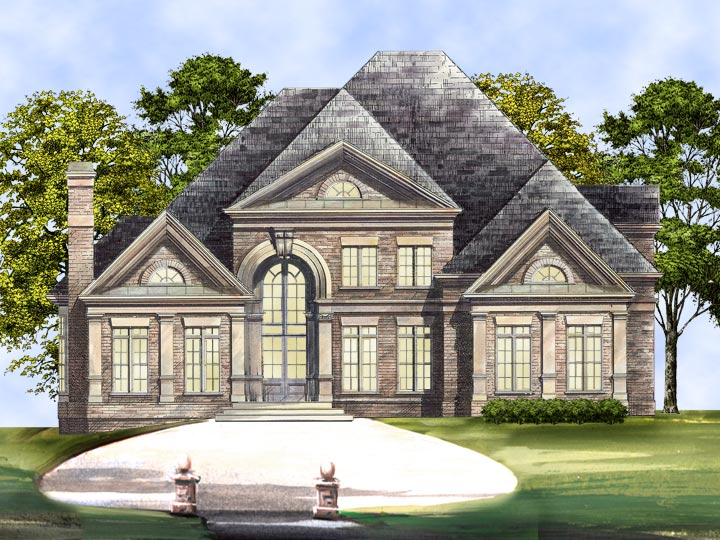Colonial House Plan with 4 Bedrooms and 3.5 Baths - Plan 5989