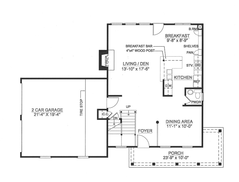 Country house plan with 3 bedrooms and 2 5 baths plan 8000 for Floor plans 8000 square feet