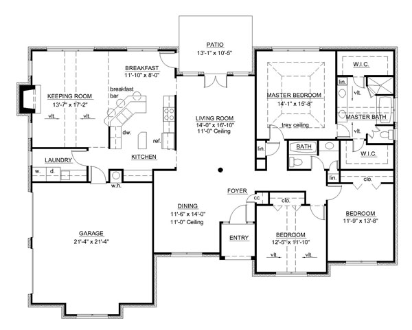 Country House Plan With 3 Bedrooms And 2 5 Baths Plan 7149