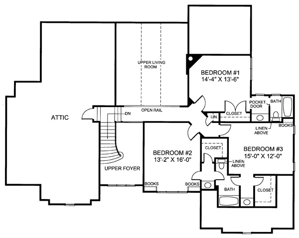 Thomaston 3152 4 Bedrooms And 3 Baths: Colonial House Plan With 4 Bedrooms And 3.5 Baths