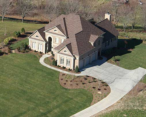 Birds Eye View image of Westover House Plan