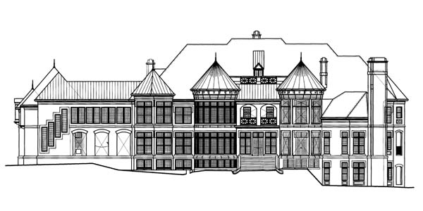 Rear Elevation image of Chateaubriand House Plan