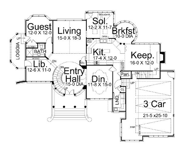 House Kildare Castle House Plan - Green