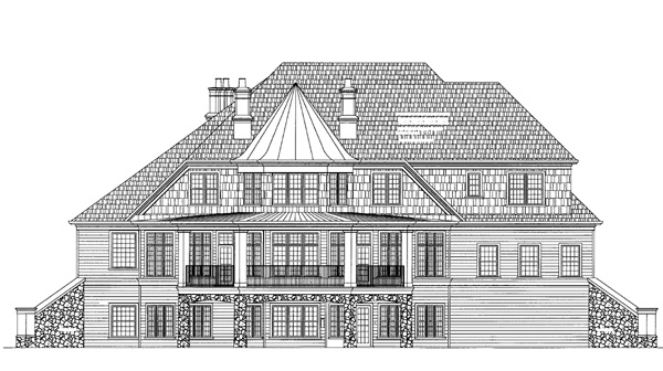 Rear Elevation image of Salem House Plan