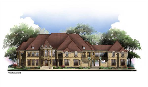 Alternate Front Elevation image of Chateaubriand House Plan