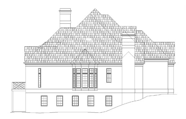 Left Elevation image of Westover House Plan