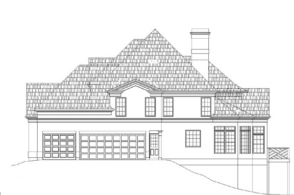 Right Elevation image of Westover House Plan
