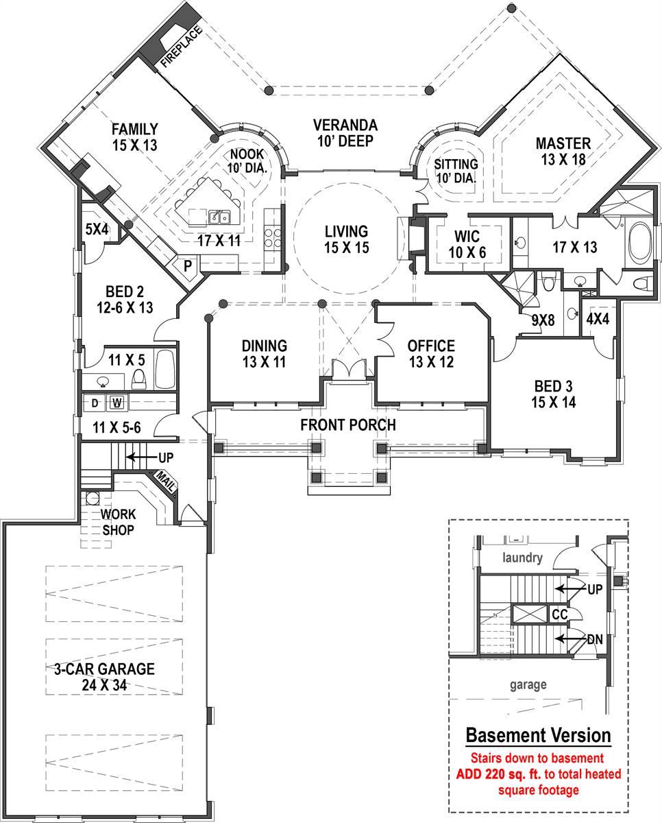 1st Floor w/Basement Stairs