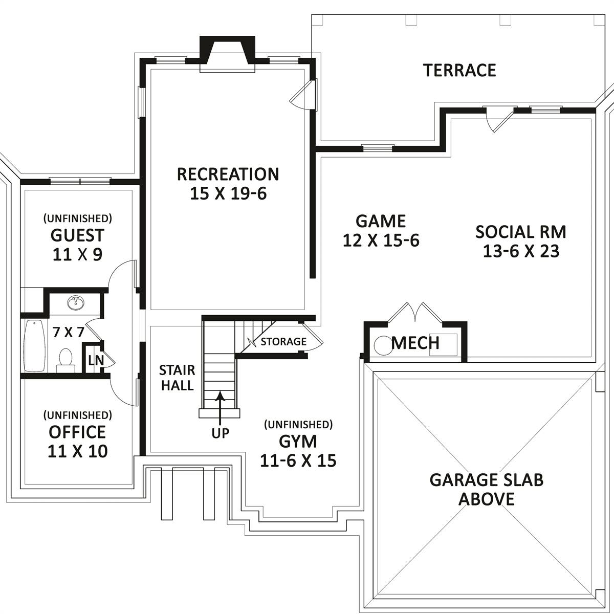 Basement Plan image of Linnwood House Plan