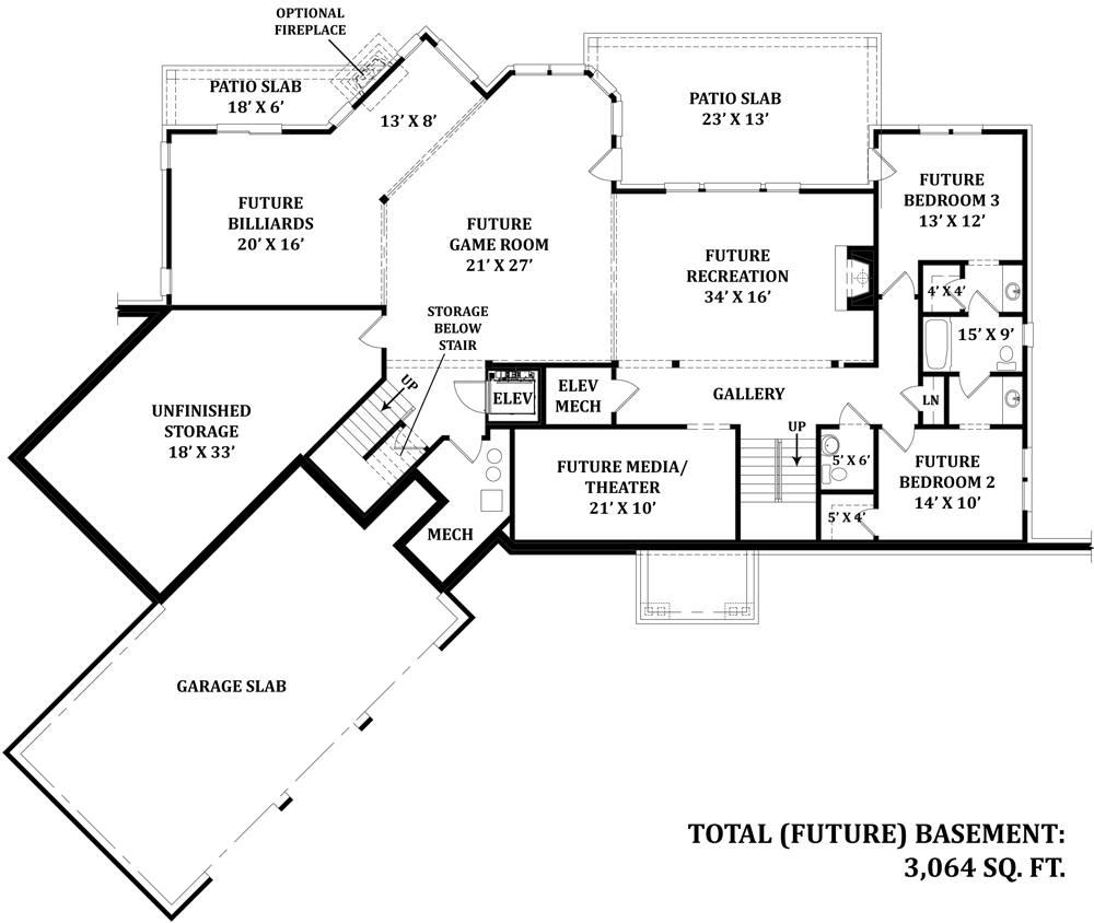 Basement by DFD House Plans