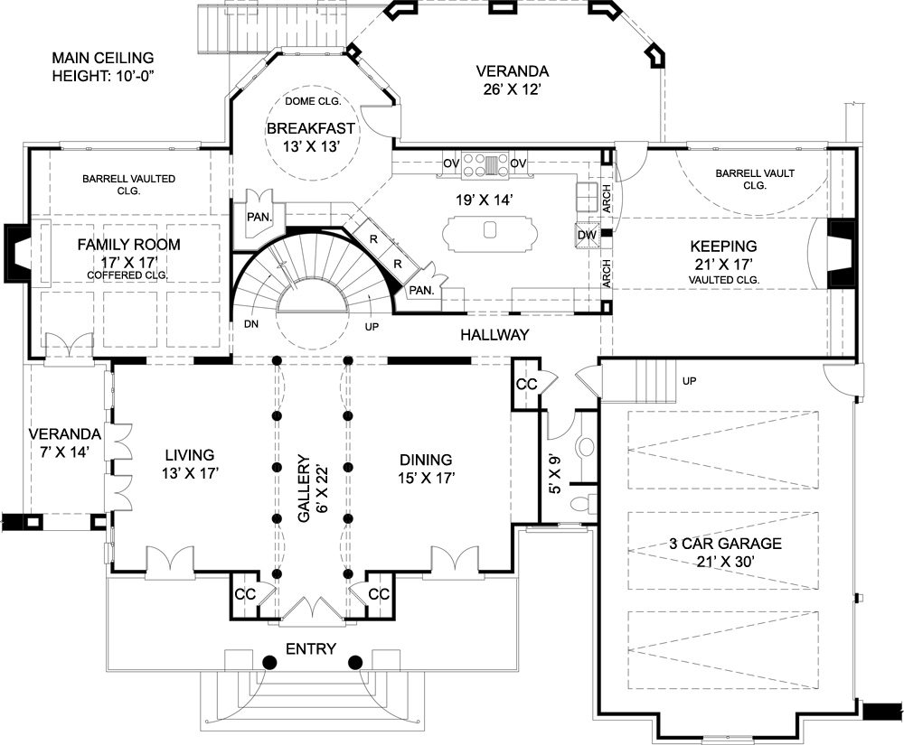 Mansion House Plans european house plan with 4 bedrooms and 3.5 baths - plan 7939