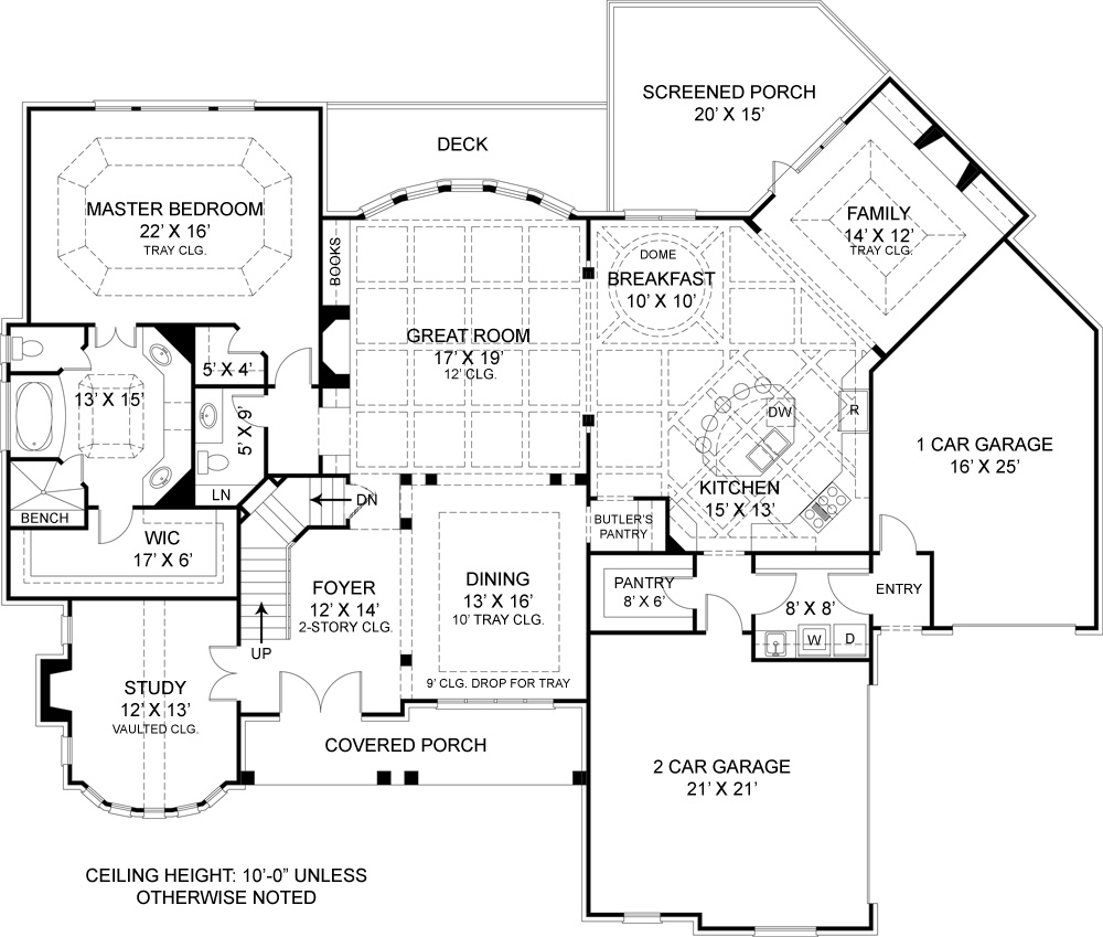 Colonial House Plan with 4 Bedrooms and 4.5 Baths - Plan 7395