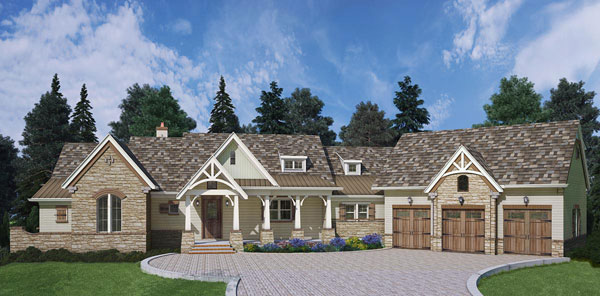 Front Rendering 3 image of Marymount House Plan
