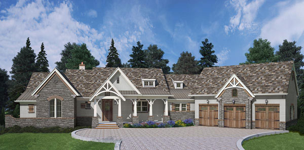 Front Render 4 image of Marymount House Plan