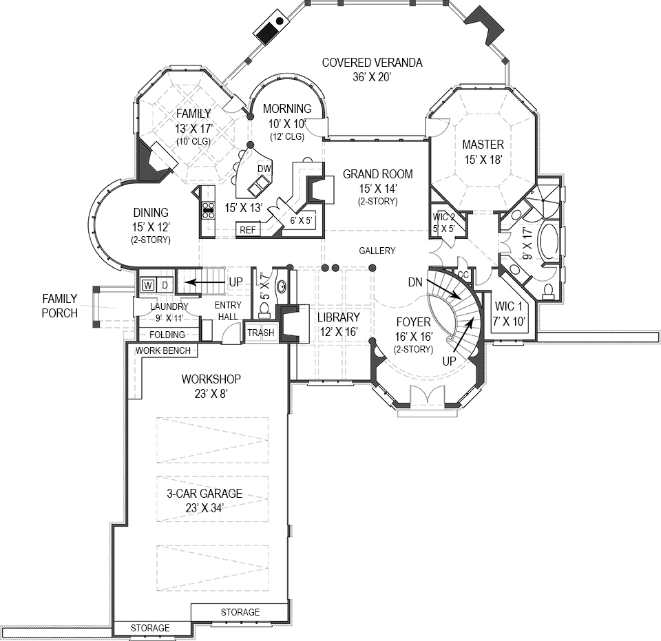 House hennessey house courtyard house plan green builder for Builder house plans com