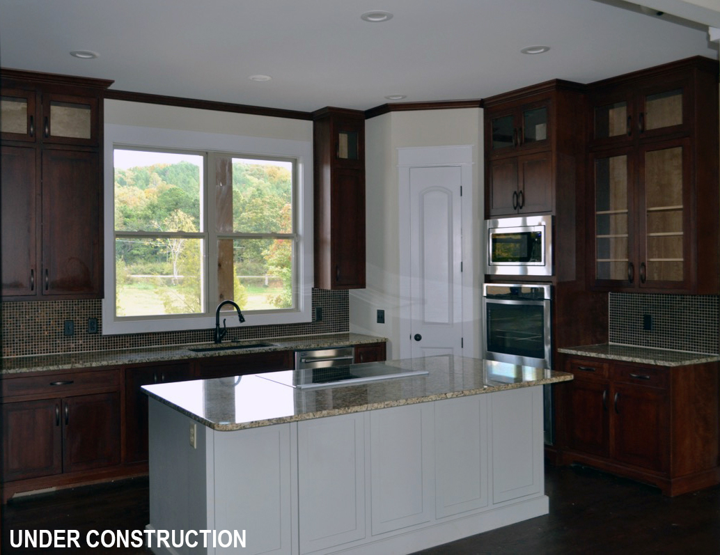 Kitchen under construction by DFD House Plans