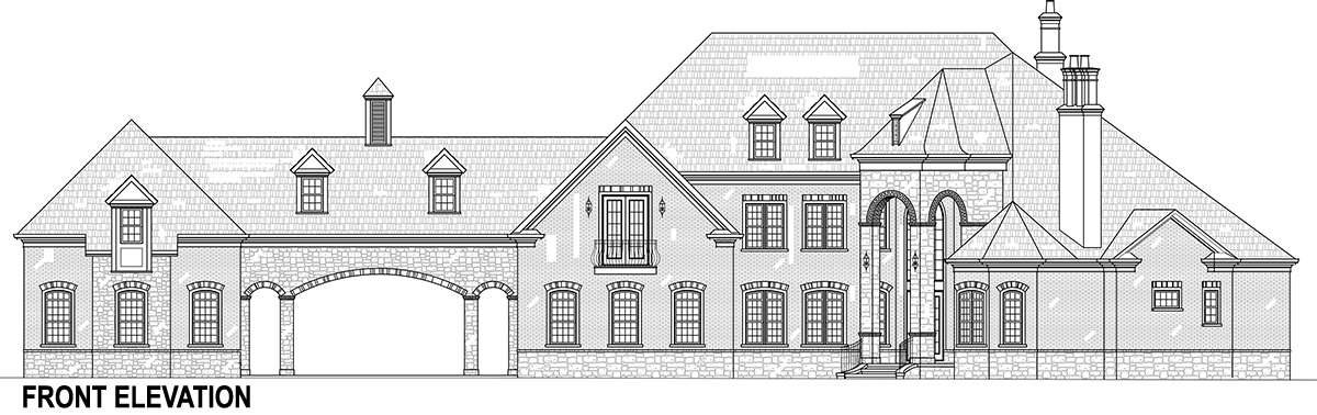 Front Elevation image of Lady Rose House Plan