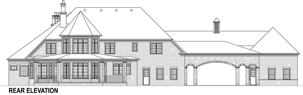 Rear Elevation image of Lady Rose House Plan