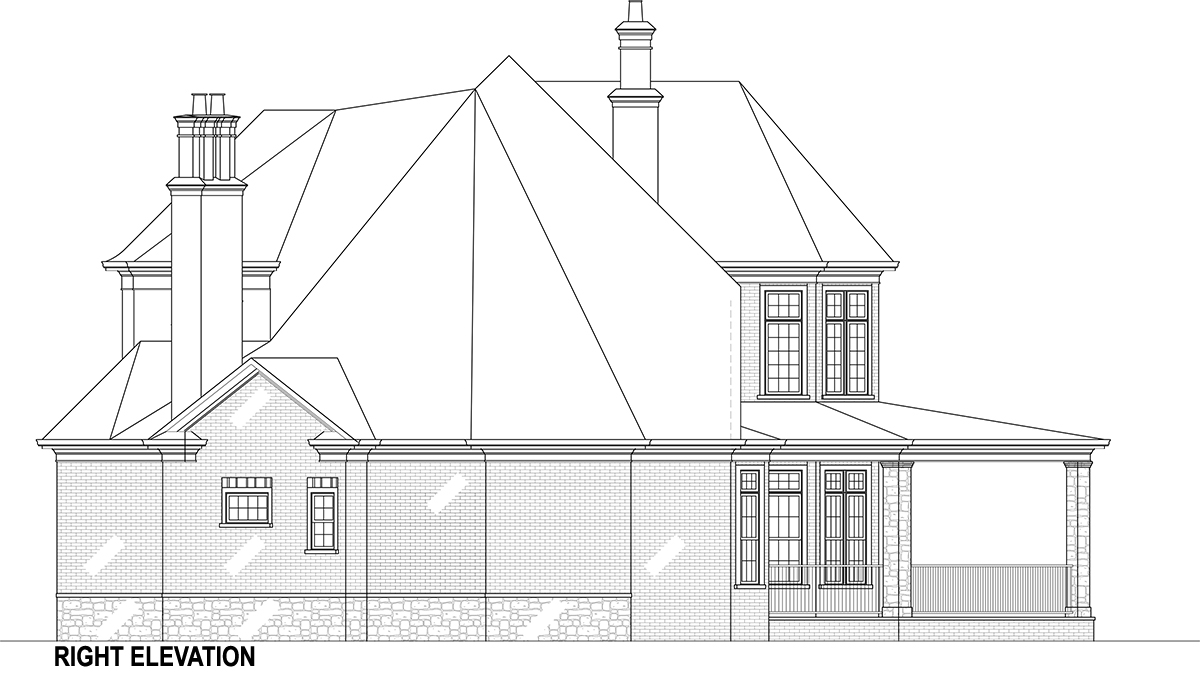 Right Elevation image of Lady Rose House Plan