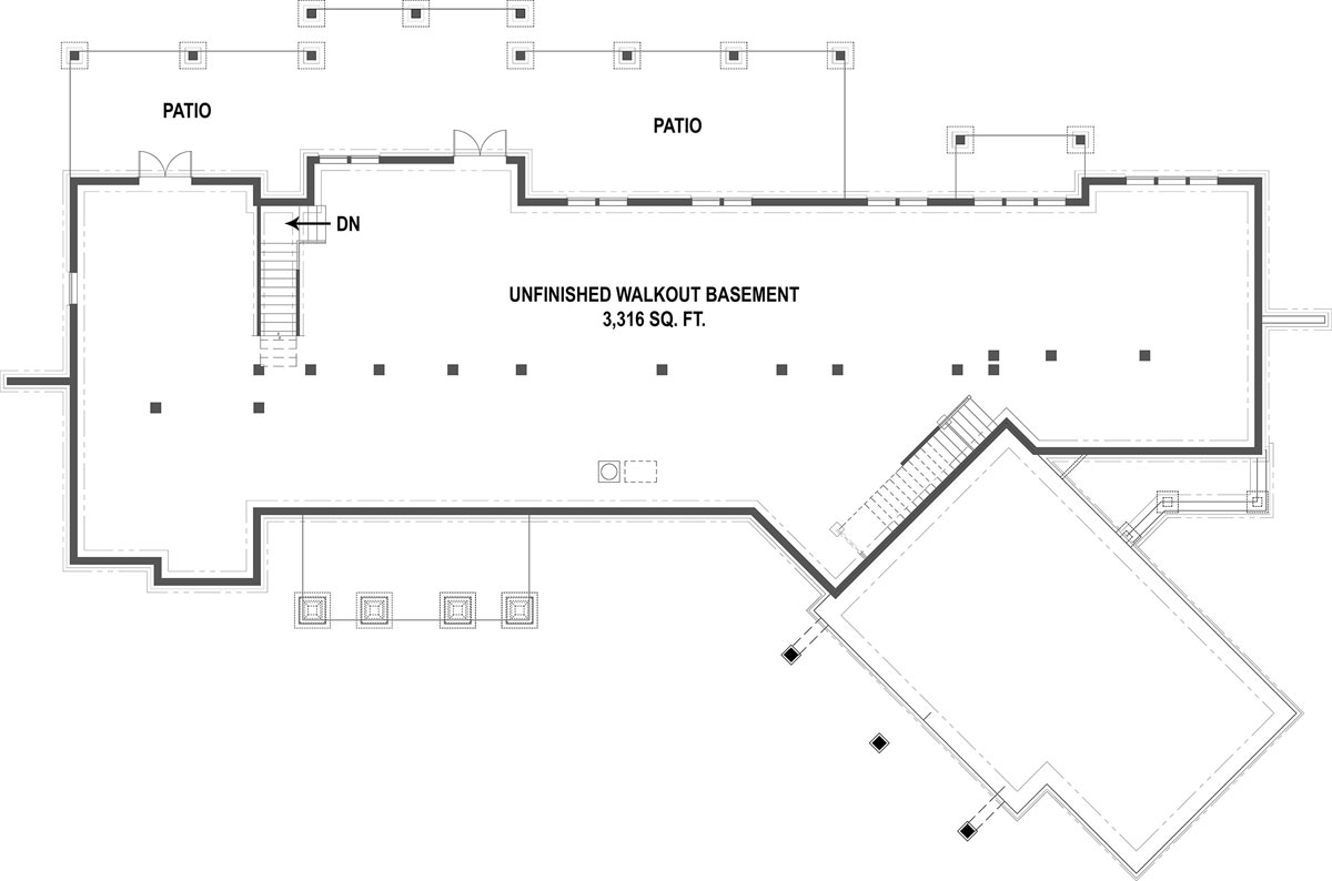 Basement Floorplan by DFD House Plans