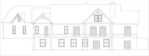 Rear Basement Elevation by DFD House Plans