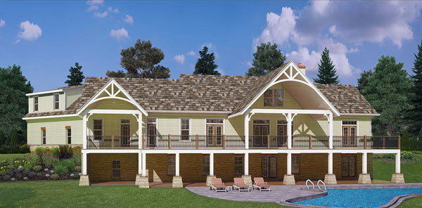 Rear 3 image of Marymount House Plan