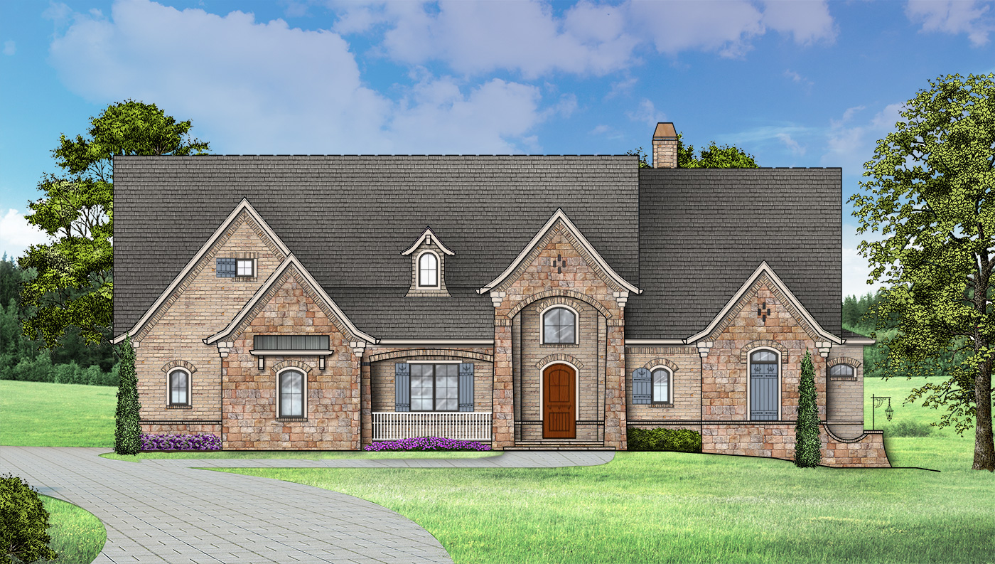 Ranch House Plan With 4 Bedrooms And 4 5 Baths Plan 1453