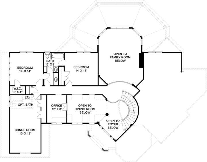 Second Floor Plan image of Salem House Plan