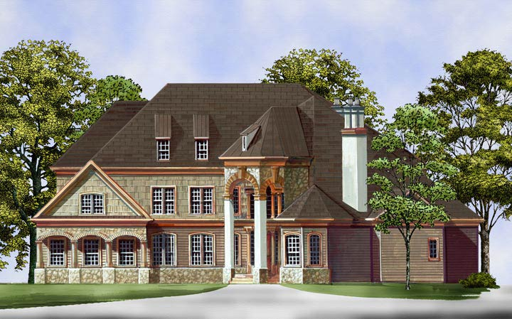 Front Rendering image of Salem House Plan