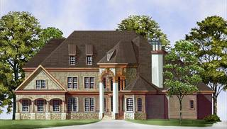 European House Plans with Daylight Basement by DFD House Plans