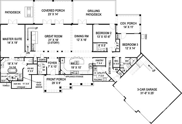 First Floor Plan image of Marymount House Plan