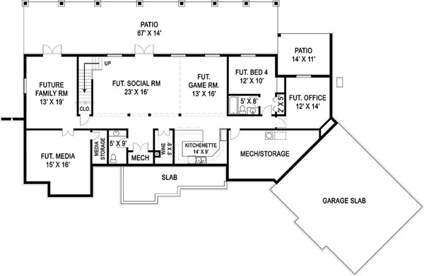 Basement Floor Plan image of Marymount House Plan