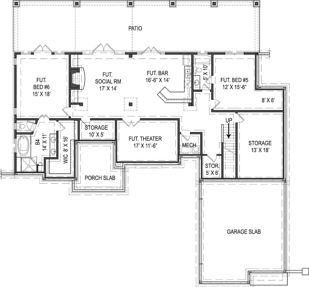 Craftsman House Plan With 4 Bedrooms And 3 5 Baths Plan 9616